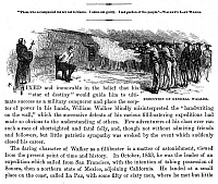 0044948 © Granger - Historical Picture ArchiveWILLIAM WALKER (1824-1860).   American adventurer. Walker's execution at Trujillo, Honduras, on 12 September 1860. Wood engraving, 19th century.