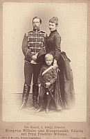 0072318 © Granger - Historical Picture ArchiveWILLIAM II OF GERMANY   (1859-1941). Emperor of Germany (1888-1918). Photographed in 1887 when he was Crown Prince with his wife Augusta Victoria and their son Frederick William .