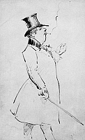 0018403 © Granger - Historical Picture ArchiveOSCAR WILDE (1854-1900).   Irish writer and wit. Caricature by James McNeill Whistler.