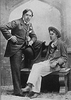0033086 © Granger - Historical Picture ArchiveOSCAR WILDE (1854-1900).   Irish poet, wit and dramatist; photographed with Lord Alfred Douglas in 1894.
