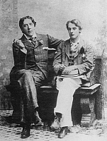 0033496 © Granger - Historical Picture ArchiveOSCAR WILDE (1854-1900).   Irish writer and wit. Photographed with Lord Alfred Douglas at Oxford, c1893.