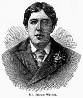 0071986 © Granger - Historical Picture ArchiveOSCAR WILDE (1854-1900).   Irish writer and wit. Line engraving, English, 1892.