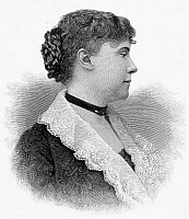 0035846 © Granger - Historical Picture ArchiveCONSTANCE F. WOOLSON   (1840-1894). Constance Fenimore Woolson. American writer. Wood engraving, American, 1887.