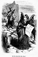 0005803 © Granger - Historical Picture ArchiveVICTORIA CLAFLIN WOODHULL   (1838-1927). American reformer. 'Get Thee Behind Me, (Mrs) Satan!' Cartoon, 1872, by Thomas Nast attacking Victoria Claflin Woodhull as an advocate of Free Love.