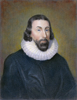 0009405 © Granger - Historical Picture ArchiveJOHN WINTHROP (1588-1649).   American colonist and first governor of Massachusetts Bay Colony. Steel engraving, 19th century.