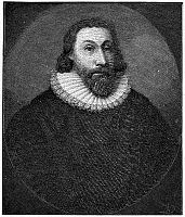0071910 © Granger - Historical Picture ArchiveJOHN WINTHROP (1588-1649).   American colonist and first governor of Massachusetts Bay Colony. Wood engraving, 19th century.