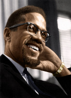 0528948 © Granger - Historical Picture ArchiveMALCOLM X (1925-1965).   Originally Malcolm Little. American religious and political leader. Photograph, mid 20th century.