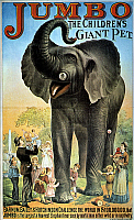 0027249 © Granger - Historical Picture ArchiveCIRCUS POSTER, c1882.   'Jumbo, the Children's Giant Pet.' American poster for Barnum, Bailey and Hutchinson Circus, c1882.