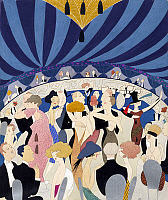 0266760 © Granger - Historical Picture ArchivePOSTER: DANCING, 1921.   Couples dancing in a nightclub. Drawing by Ann Harriet Fish, 1921.