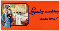 0527440 © Granger - Historical Picture ArchivePOSTER: LAUNDRY, 1929.   'Laundry washing costs less!' Lithograph, 1929.