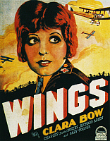 0011550 © Granger - Historical Picture ArchiveFILM: WINGS, 1927.   Clara Bow on a window card for 'Wings,' 1927.