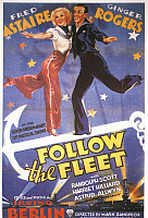 0022093 © Granger - Historical Picture ArchivePOSTER: FOLLOW THE FLEET.   Fred Astaire and Ginger Rogers in