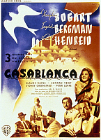 0118160 © Granger - Historical Picture ArchiveCASABLANCA, 1942.   French poster, c1947, for the American film 'Casablanca,' originally released in 1942.