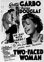 0118167 © Granger - Historical Picture ArchiveTWO-FACED WOMAN, 1941.   Poster for the film 'Two-Faced Woman,' starring Greta Garbo and Melvyn Douglas, directed by George Cukor, 1941.