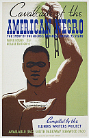 0002132 © Granger - Historical Picture ArchiveNEW DEAL: WPA POSTER.   'Cavalcade of the American Negro.' Cover of a book compiled c1940 by the Illinois Writers Project, part of the WPA's Federal Writers Project.