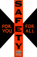 0124660 © Granger - Historical Picture ArchiveNEW DEAL: WPA POSTER.   'Safety for you, for all.' American poster, 1936, promoting safety in the state of Illinois, featuring a civil defense symbol. Silkscreen by Carken for the Works Progress Administration's Federal Art Project.