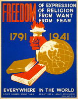 0526606 © Granger - Historical Picture ArchiveFOUR FREEDOMS, 1941.   Silkscreen poster, 1941.