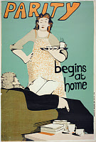 0216562 © Granger - Historical Picture ArchivePOSTER: WOMEN'S RIGHTS.   'Parity begins at home.' English poster, 1974, supporting women's liberation.