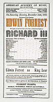 0046238 © Granger - Historical Picture ArchiveSHAKESPEARE: RICHARD III.   Playbill for an 1861 performance of
