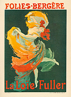 0268628 © Granger - Historical Picture ArchiveFOLIES BERGERE, 1893.   French poster for Loie Fuller at the Folies Bergères, in Paris, France. Lithograph by Jules Chéret, 1893.