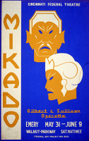 0352821 © Granger - Historical Picture ArchiveMIKADO, c1938.   Poster for a Federal Theatre Project production of 'Mikado' by Gilbert and Sullivan in Cincinnati, Ohio. Silkscreen, c1938.