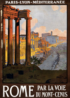 0173250 © Granger - Historical Picture ArchiveROME TRAVEL POSTER, c1920.  Poster promoting travel to Rome. Poster by Géorge Dorival, c1920.