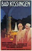 0526633 © Granger - Historical Picture ArchiveGERMAN TRAVEL POSTER, 1923.   'Bad Kissingen.' Lithograph by Richard Friese, 1923.