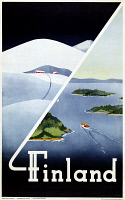 0526956 © Granger - Historical Picture ArchiveTRAVEL POSTER, c1948.   Poster promoting tourism in Finland, c1948.
