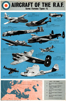 0528240 © Granger - Historical Picture ArchivePOSTER: ROYAL AIR FORCE.   Poster illustrating the various aircraft of the British Royal Air Force, c1943.