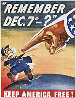 0023124 © Granger - Historical Picture ArchiveWORLD WAR II: U.S. POSTER.   'Remember December 7th.' American World War II poster, 1944, recalling the Japanese attack on Pearl Harbor, 7 December 1941.