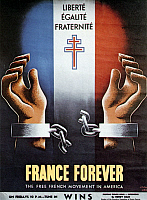 0027662 © Granger - Historical Picture ArchiveWORLD WAR II: POSTER, 1940s.   'France Forever': American poster by Jean Carlu, 1940s, for the Free French Movement in America.
