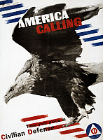 0124666 © Granger - Historical Picture ArchiveWORLD WAR II POSTER, 1941.   'America Calling.' American World War II poster for the Division of Information of the Office of Emergency Management, 1941, seeking volunteers for civilian defense. Designed by Herbert Matter.