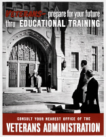 0408886 © Granger - Historical Picture ArchiveWWII: VETERANS, c1945.   'Veterans - Prepare for Your Future Thru Educational Training.' Lithograph, c1945.