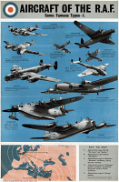 0528233 © Granger - Historical Picture ArchivePOSTER: ROYAL AIR FORCE.   Poster illustrating the various aircraft of the British Royal Air Force, c1943.