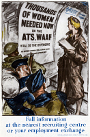 0528251 © Granger - Historical Picture ArchivePOSTER: WOMEN RECRUIT.    British poster encouraging women to join the  Auxiliary Territorial Service or the Women's Auxiliary Air Force. Lithograph.