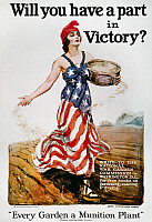 0007047 © Granger - Historical Picture ArchiveWORLD WAR I: U.S. POSTER.   'Will you have a part in Victory?' American World War I 'Victory Garden' poster by James Montgomery Flagg, 1918.