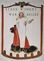 0007048 © Granger - Historical Picture ArchiveWORLD WAR I: U.S. POSTER.   'Stage Women's War Relief.' American World War I poster by James Montgomery Flagg, 1918.