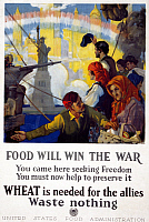 0007276 © Granger - Historical Picture ArchiveWORLD WAR I: U.S. POSTER.   'Food Will Win the War.' U.S. Food Administration World War I poster, 1917.