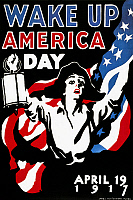 0009833 © Granger - Historical Picture ArchiveWAKE UP AMERICA DAY, 1917.   Poster commemorating 'Wake Up America Day,' 19 April 1917, by James Montgomery Flagg.