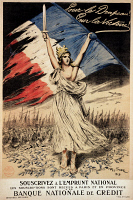 0009835 © Granger - Historical Picture ArchiveWORLD WAR I: FRENCH POSTER.   'For the Flag! For Victory!' A French National Loan poster during World War I.