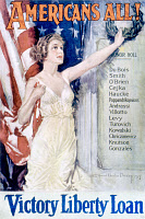 0027028 © Granger - Historical Picture ArchiveWORLD WAR I: LIBERTY LOAN, 1919. 'Americans All! Victory Liberty Loan.' American World War I poster by Howard Chandler Christy, 1919.