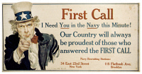 0045858 © Granger - Historical Picture ArchiveWORLD WAR I: U.S. POSTER.   'I need you in the Navy this minute!' American World War I recruiting poster, c1917, by James Montgomery Flagg.