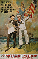 0061578 © Granger - Historical Picture Archive'THE NAVY NEEDS YOU!', 1918.   American World War I naval recruiting poster, 1918, by James Montgomery Flagg.