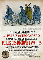 0114505 © Granger - Historical Picture ArchiveWORLD WAR I: FRENCH POSTER.   Lithograph poster, 1917, advertising a charity event at the Trocadero Palace in Paris, to raise money for French troops during World War I.