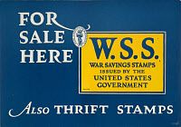 0131279 © Granger - Historical Picture ArchiveWORLD WAR I: THRIFT STAMPS.   Poster for Thrift Stamps and Saving Stamps during World War I. Lithograph, 1917.