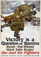 0132657 © Granger - Historical Picture ArchiveWORLD WAR I: POSTER, 1917.   Poster for the United States Food Administration during World War I. Lithograph by Harvey Dunn, 1917.