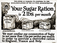 0323365 © Granger - Historical Picture ArchiveWWI: POSTER, 1917.   'Your sugar ration is 2 lbs. per month.' Lithograph for the United States Food Administration, 1917.