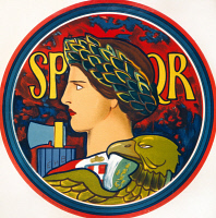 0527051 © Granger - Historical Picture ArchiveWWI: EMBLEM, 1915.   Emblem of Italy. Lithograph by Edwin Howland Blashfield, 1915.