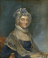 0041850 © Granger - Historical Picture ArchiveABIGAIL ADAMS (1744-1818).   Mrs. John Adams, American First Lady. Line and stipple engraving by G.F. Storm after Gilbert Stuart.
