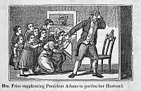0089767 © Granger - Historical Picture ArchiveJOHN ADAMS (1735-1826).   Second President of the United States. Mrs. Fries supplicating President Adams to pardon her husband. Engraving, mid-19th century.
